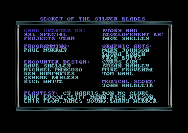 File:Secret of the Silver Blades - C64 - Credits.png