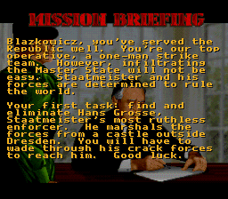Wolfenstein 3D - SNES - Mission Briefing.png