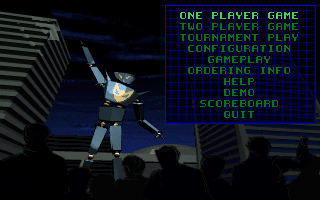 One Must Fall 2097 - DOS - Menu.png