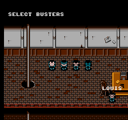 New Ghostbusters II - NES - Character Select.png