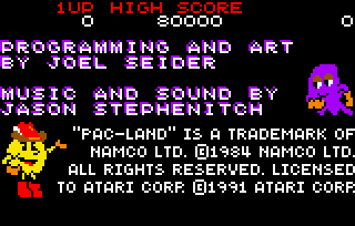 File:Pac-Land - LYNX - Credits png - Video Game Music Preservation