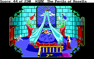 King's Quest 4 - DOS - Genesta's Room.png
