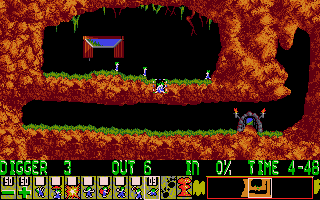 Lemmings - DOS - Diggers.png