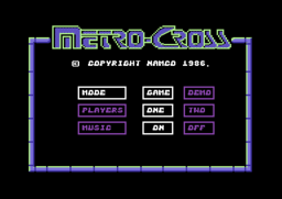 Metro-Cross - C64 - Main Menu.png