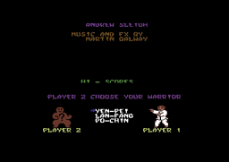 Yie Ar Kung-Fu II - C64 - 2 Players.png