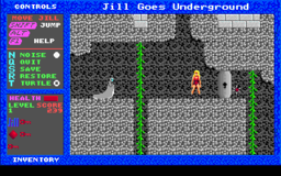 Jill of the Jungle - Jill Goes Underground - DOS - Level 1.png