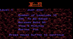 Lemmings - DOS - Start.png