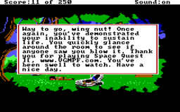 Space Quest 2 - DOS - Game Over.png