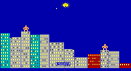 QBasic Gorillas - DOS - Shocked Sun.png