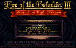 Eye of the Beholder III - DOS - Title Screen.png