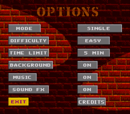 BreakThru! - SNES - Options.PNG