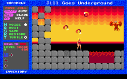 Jill of the Jungle - Jill Goes Underground - DOS - Level 9.png