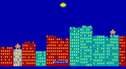 QBasic Gorillas - DOS - Damage.png