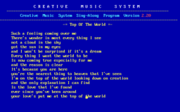 Creative Music System - DOS - Sing.png
