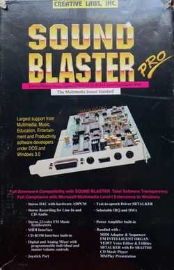 Sound Blaster Pro (DOS) - Video Game Music Preservation Foundation Wiki