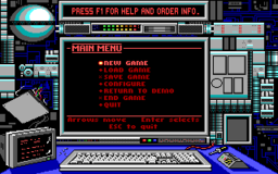 Bio Menace - DOS - Main Menu.png