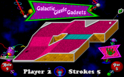Fuzzy's World of Miniature Space Golf - DOS - Galactic Giggle Gadgets.png