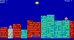 QBasic Gorillas - DOS - Skyline.png
